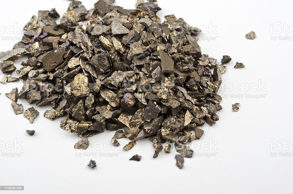 Really and pure chemical Elements - here shown manganese Mn stock photo