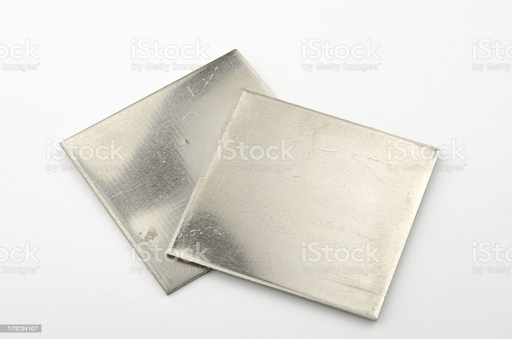 Really and pure chemical Elements - here shown Nickel Ni stock photo