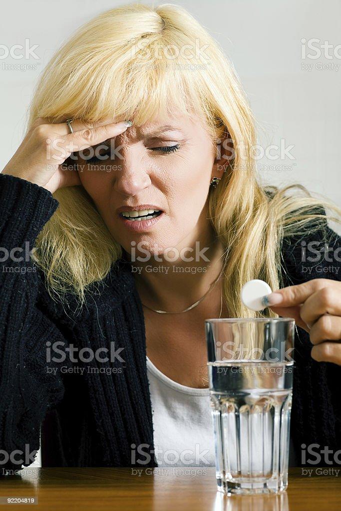 Really bad migraine royalty-free stock photo