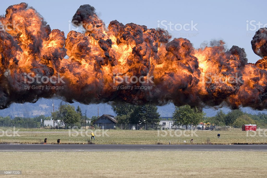 Really big blast stock photo