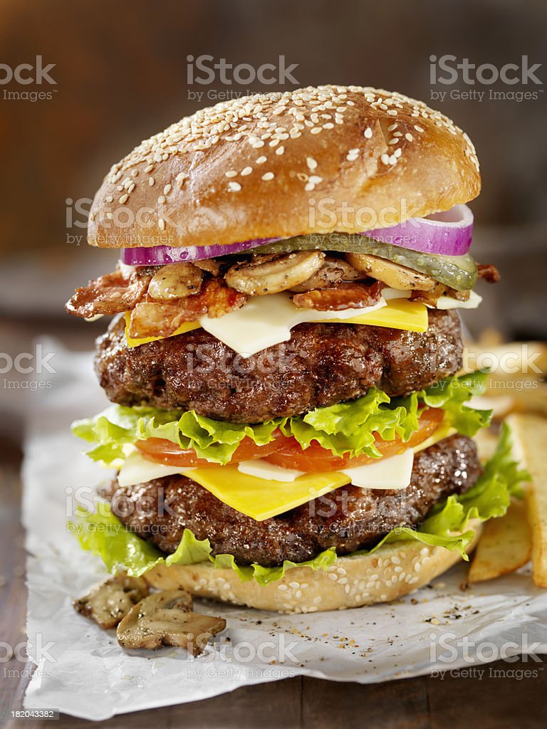 Really Big Burger stock photo