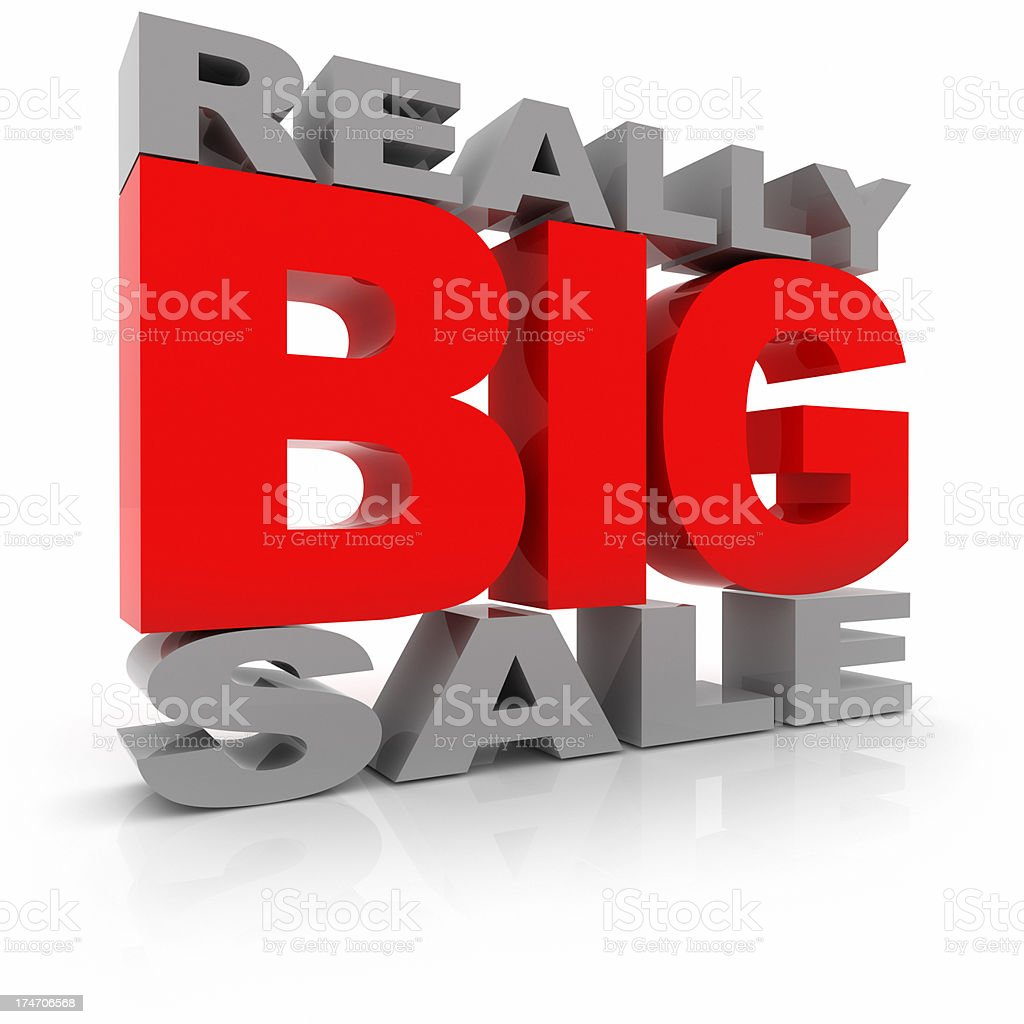 Really Big Sale stock photo