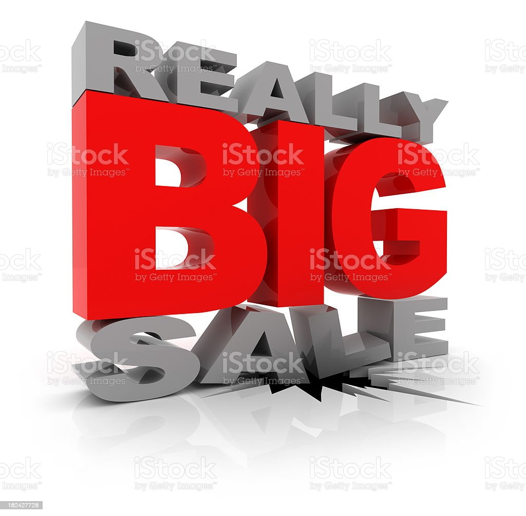 Really Big Sale royalty-free stock photo