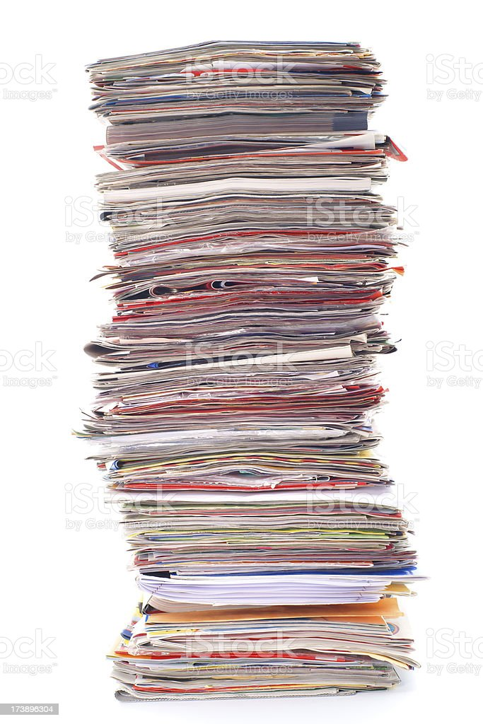 Really big stack of magazines royalty-free stock photo