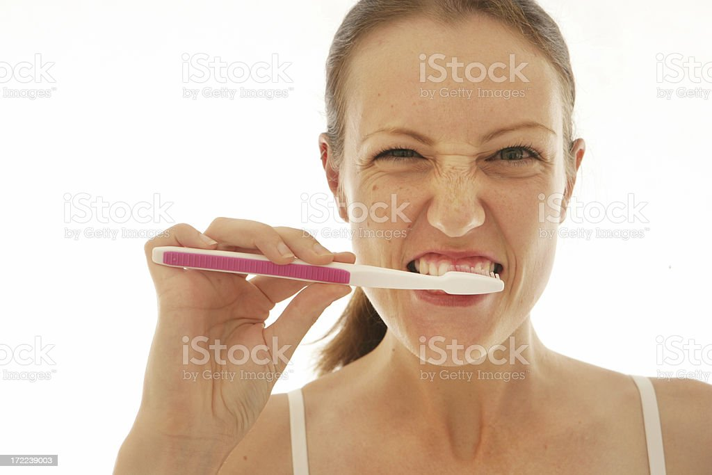 Really Clean Teeth royalty-free stock photo