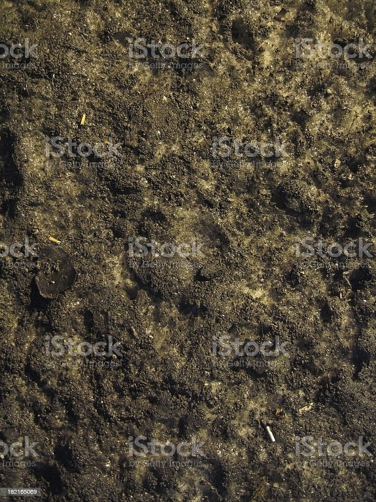 Really Dirty Snow stock photo