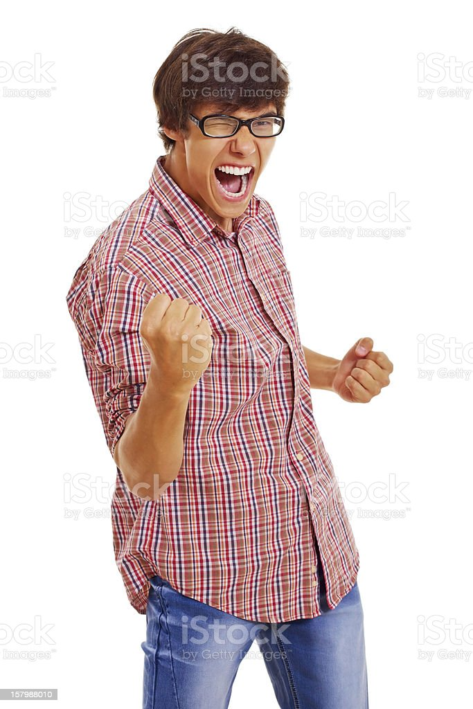 Really happy young guy stock photo