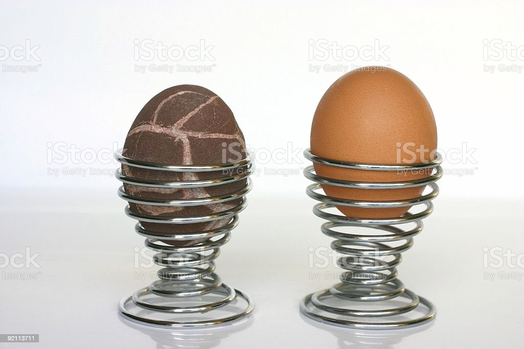 really hard boiled stock photo