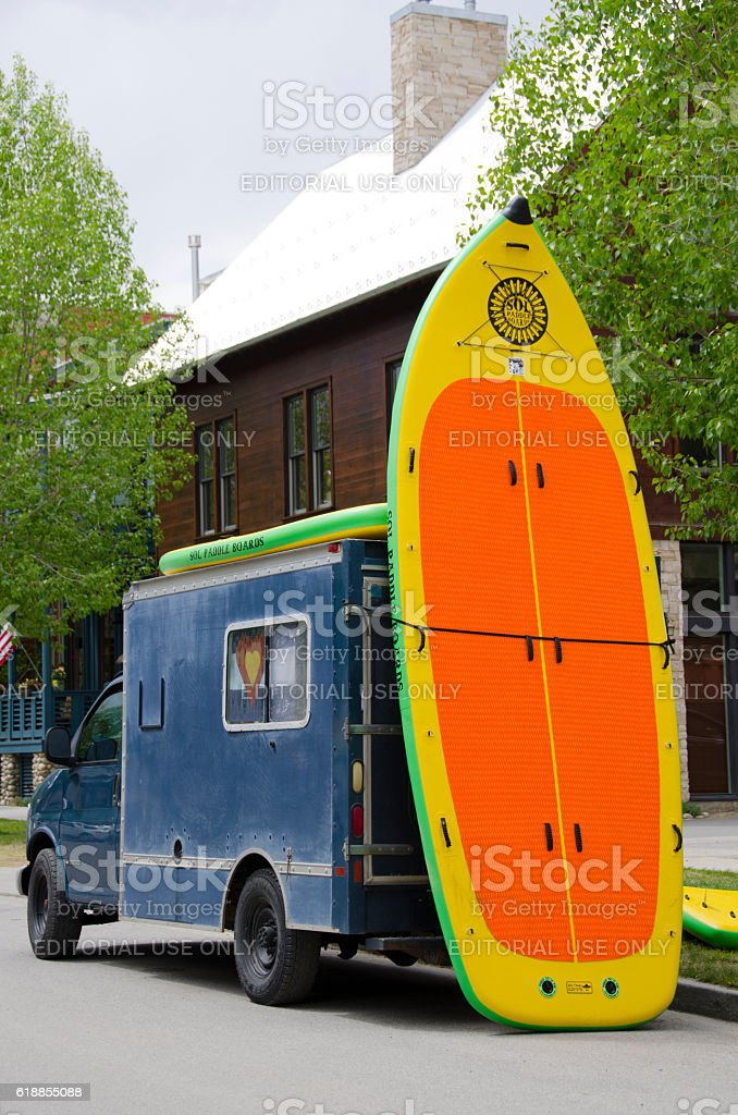 Really Large Paddle Board stock photo