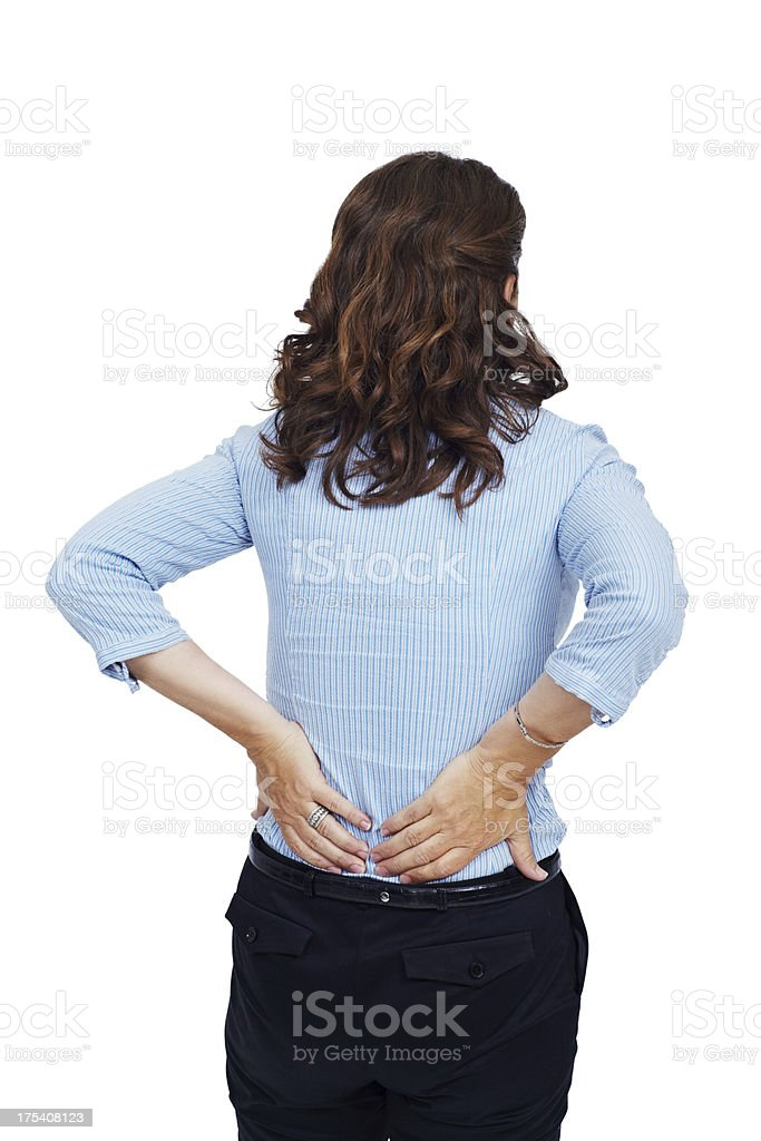 I really need to work on my posture royalty-free stock photo