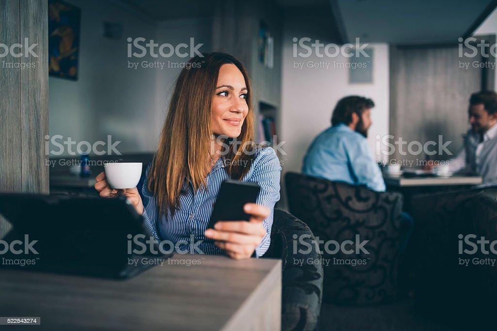I really needed this coffee break stock photo
