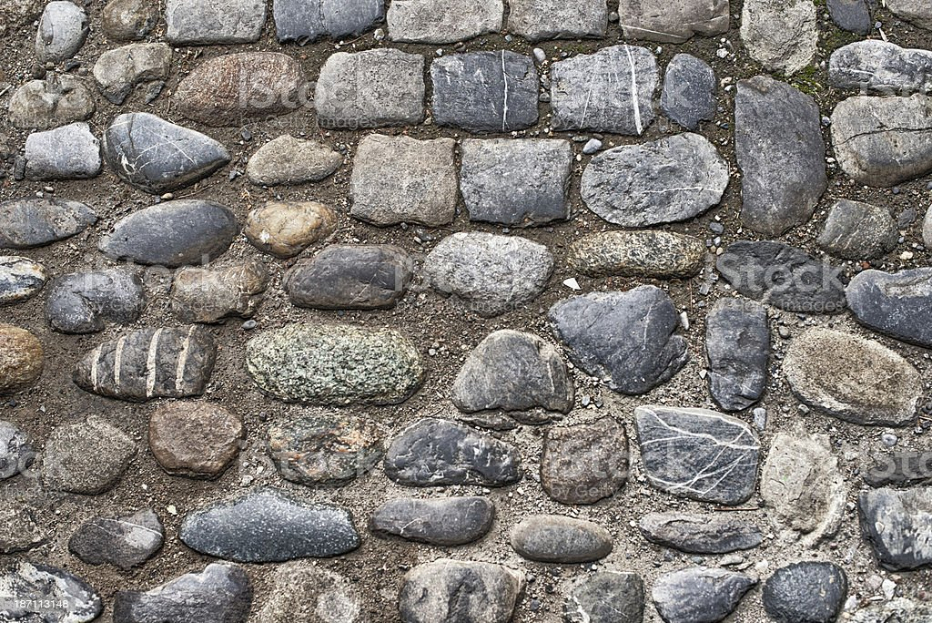 really old cobblestone plaza place square royalty-free stock photo