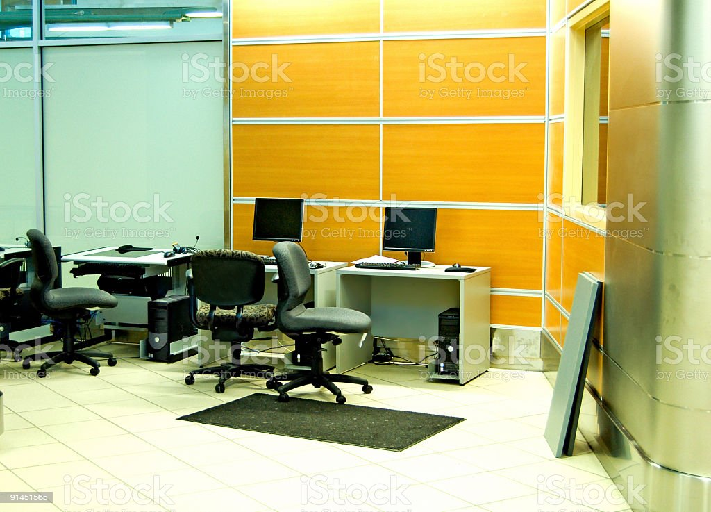 Really Poor Office stock photo