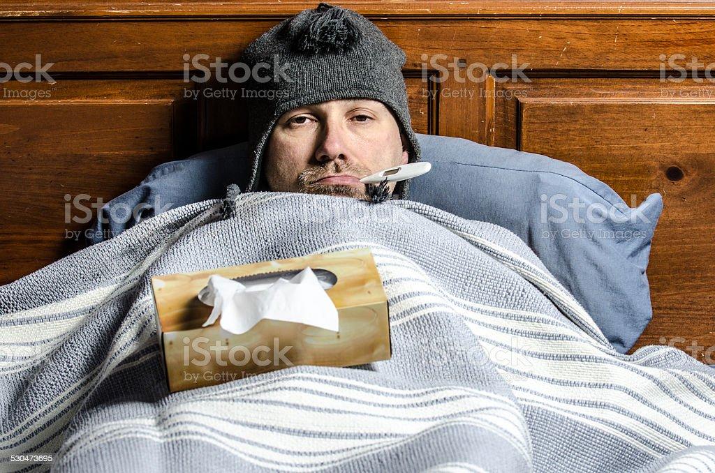 Really sick stock photo