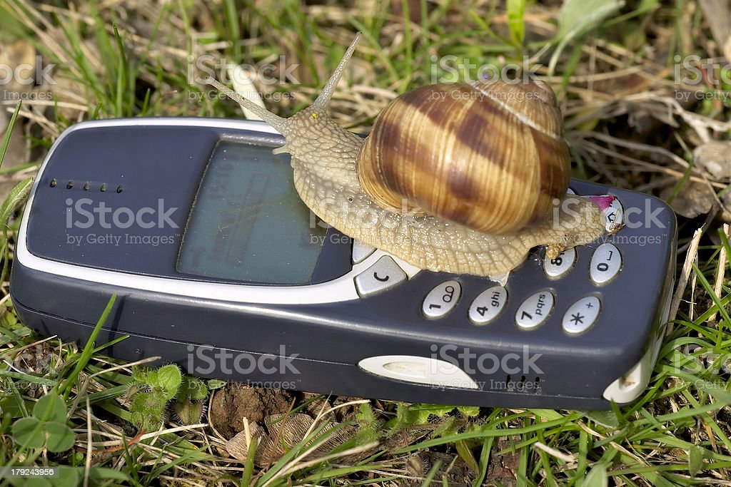 Really slow mobile royalty-free stock photo