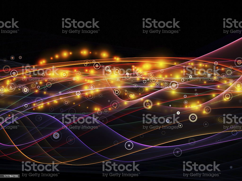 Realms of Dynamic Network royalty-free stock photo