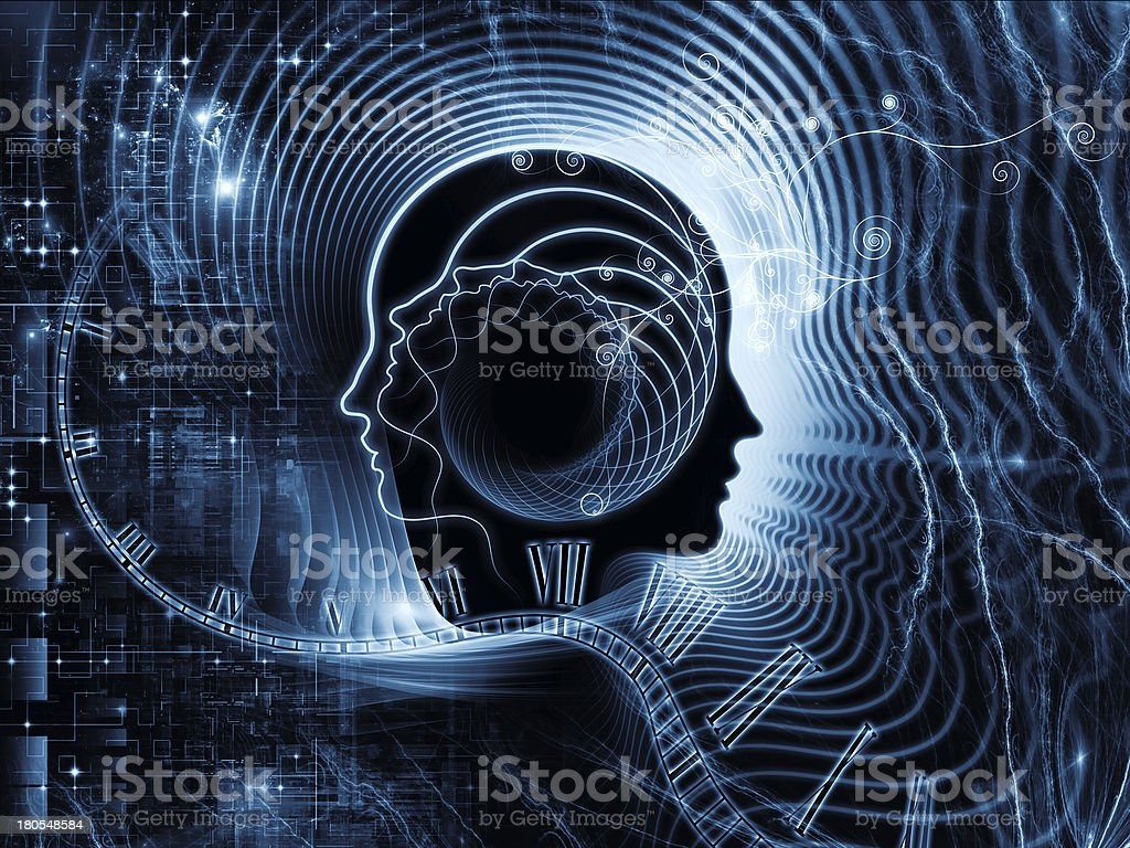 Realms of Human Mind royalty-free stock vector art
