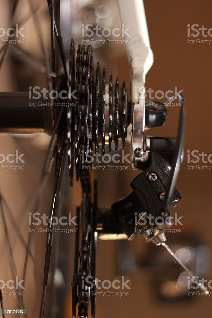Hinten Fahrrad Schalthebel. Lizenzfreies stock-foto