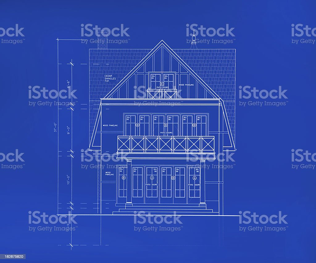 rear blueprint royalty-free stock photo