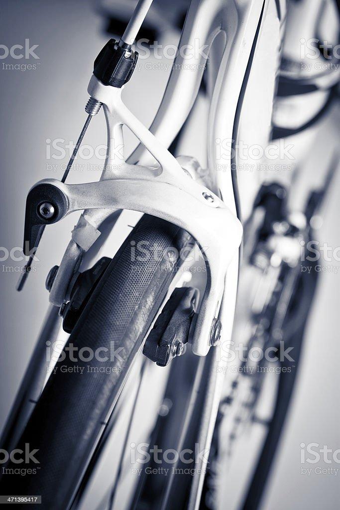 Rear brakes of a racing bike royalty-free stock photo