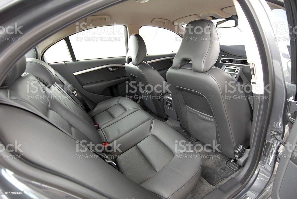 rear car seat stock photo