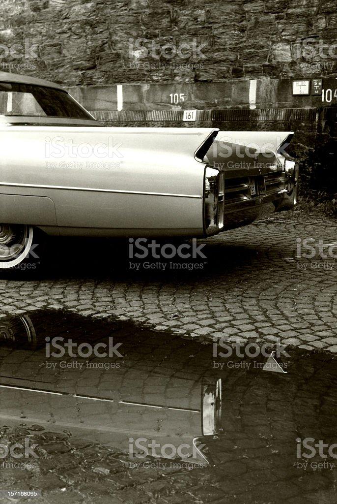 Rear of a Cadillac stock photo