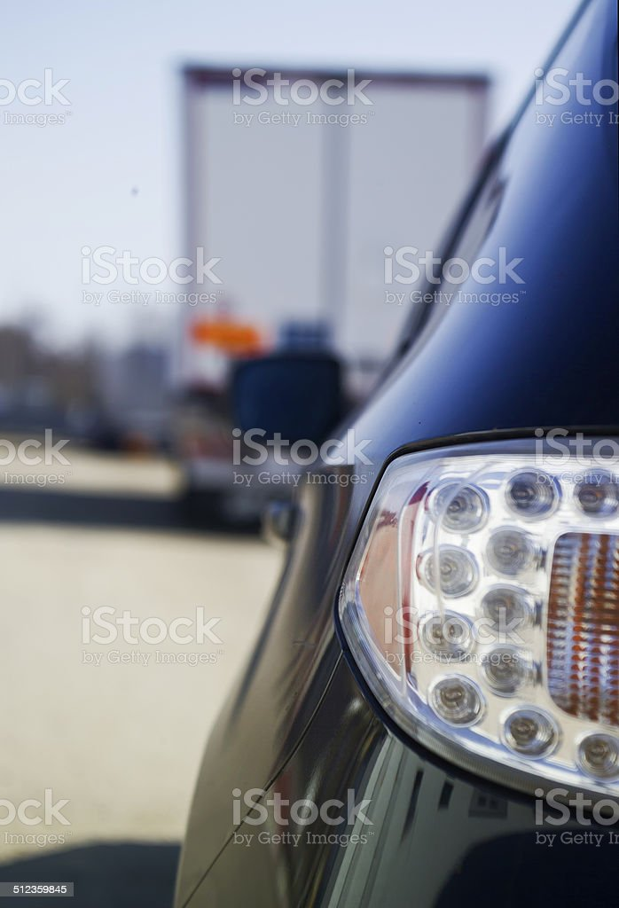 rear of a car stock photo