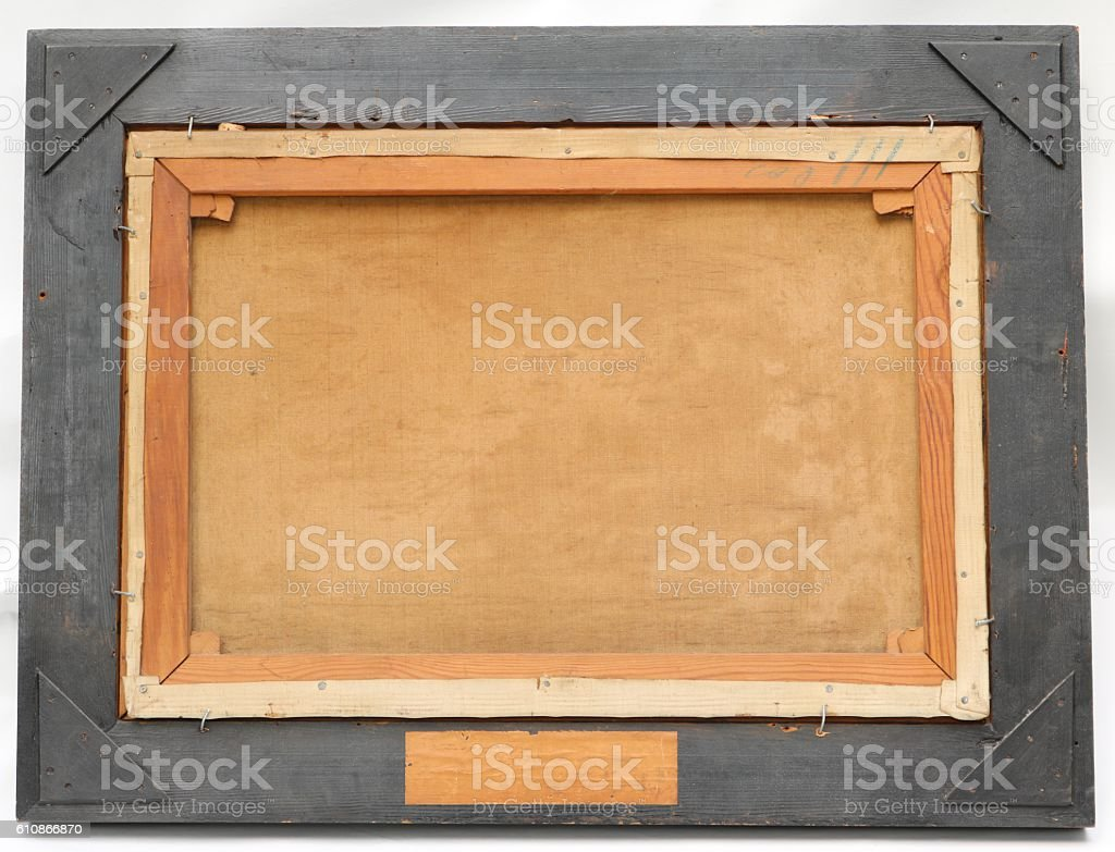 Rear of Antique Canvas stock photo