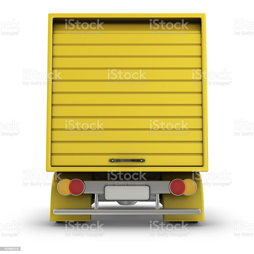 rear of delivery van royalty-free stock photo