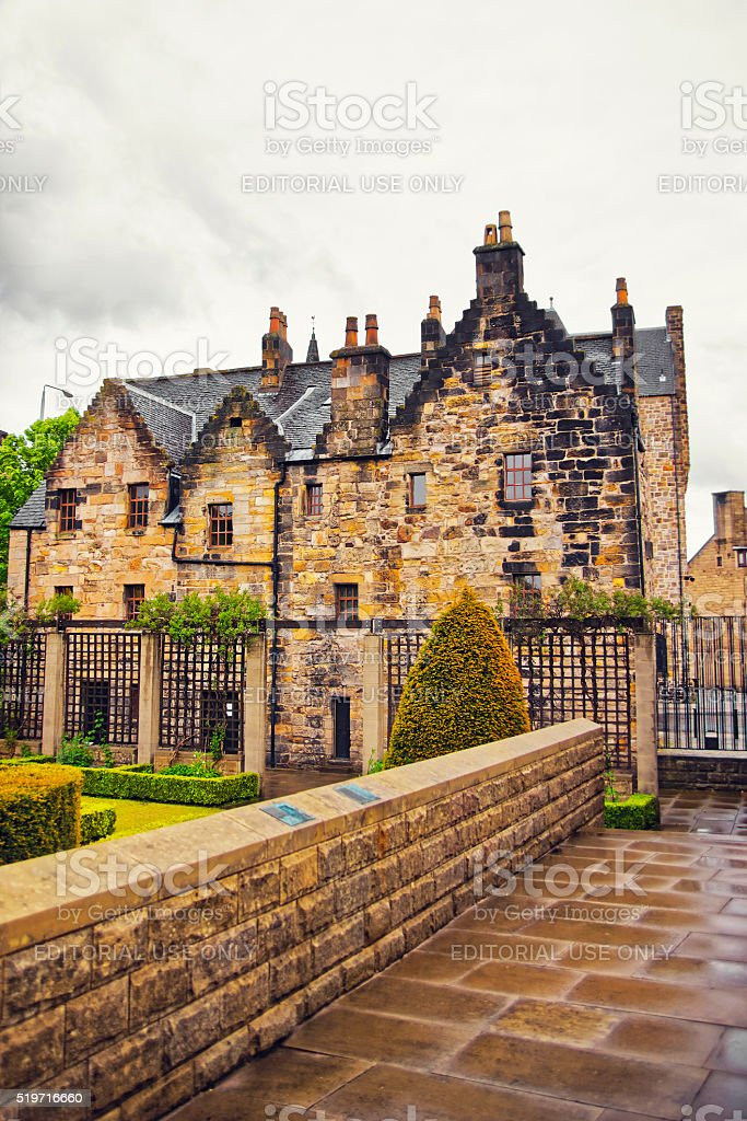 Rear side of Provand Lordship in Castle Street in Glasgow stock photo
