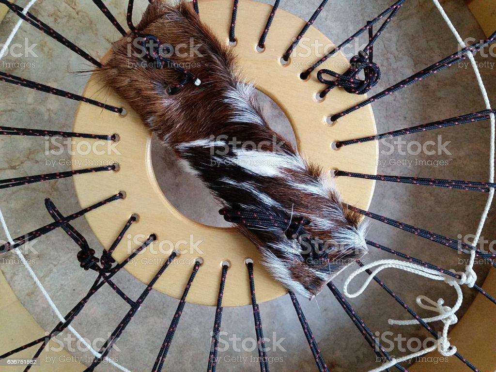 Rear view frame drum stock photo