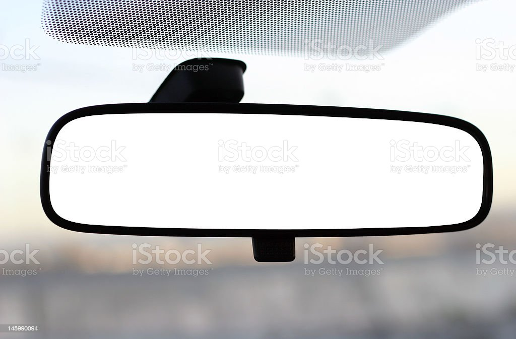 rear view mirror with clipping path stock photo