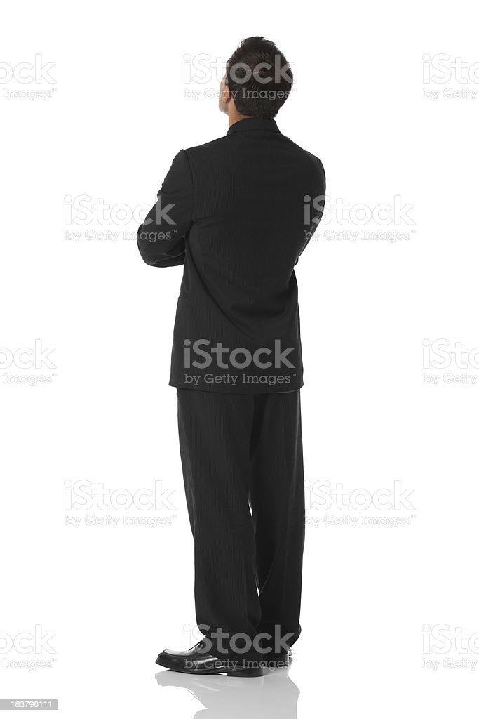 Rear view of a businessman royalty-free stock photo