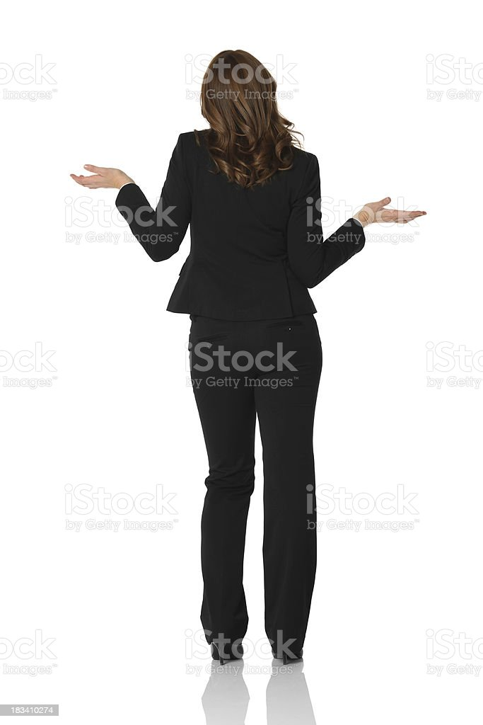 Rear view of a businesswoman royalty-free stock photo