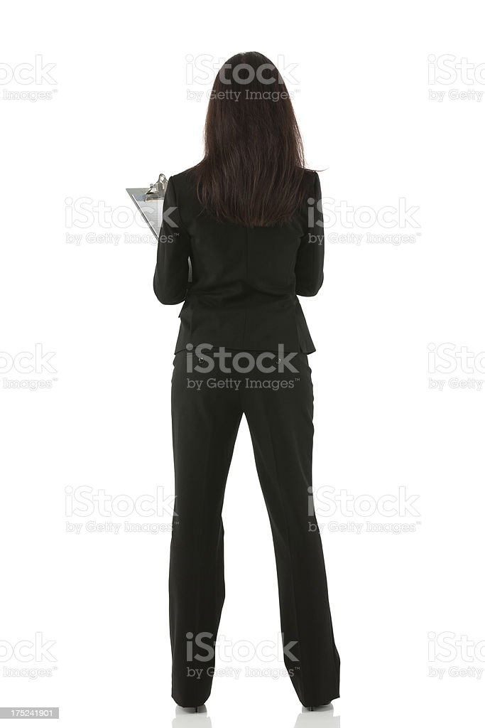Rear view of a businesswoman standing royalty-free stock photo