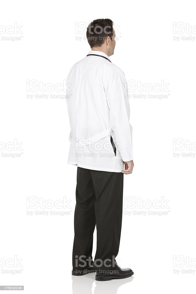 Rear view of a doctor stock photo