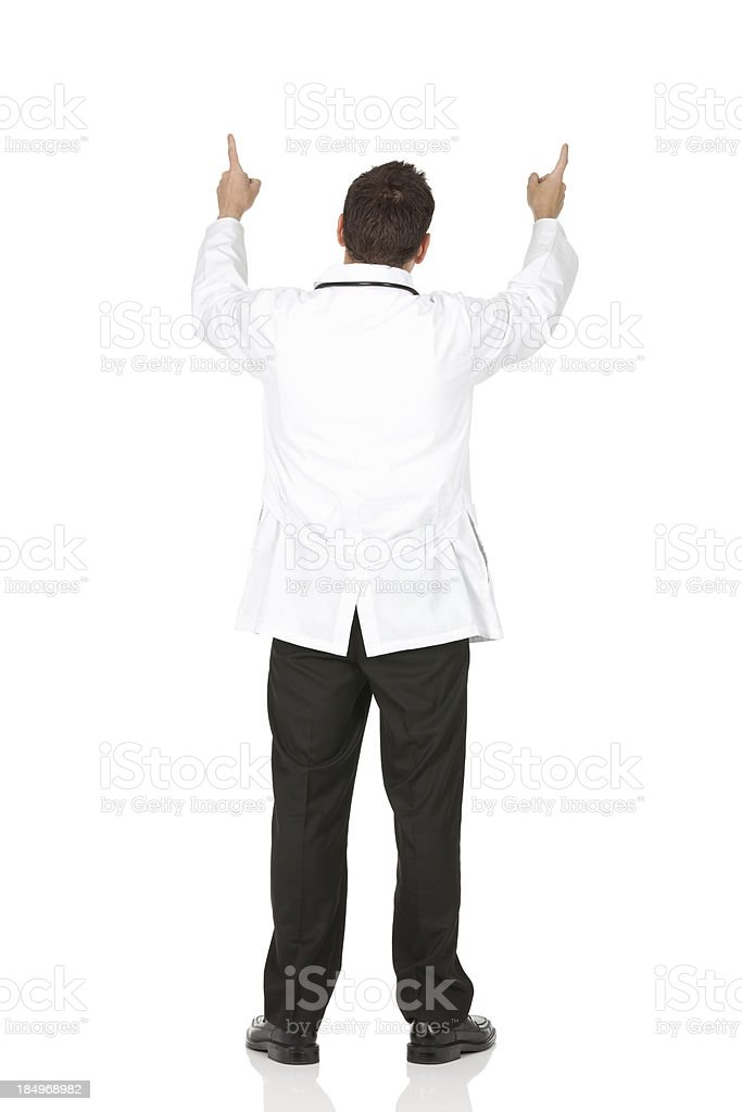 Rear view of a male doctor stock photo