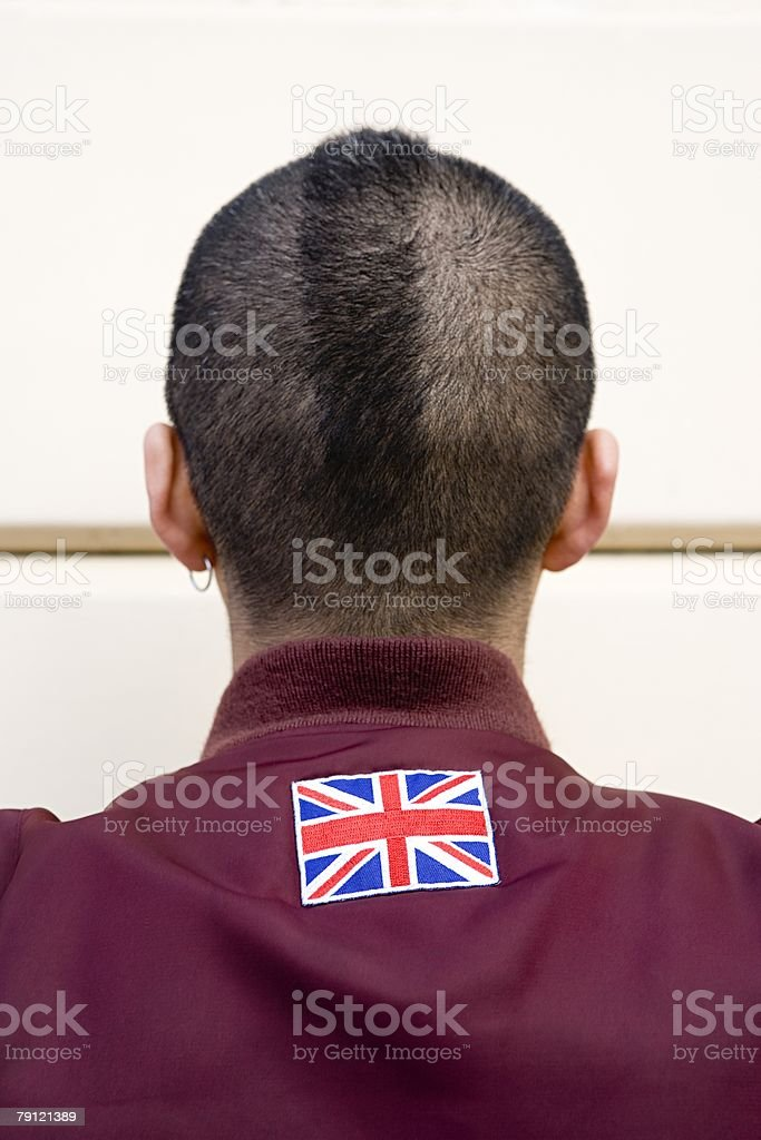 Rear view of a young man royalty-free stock photo