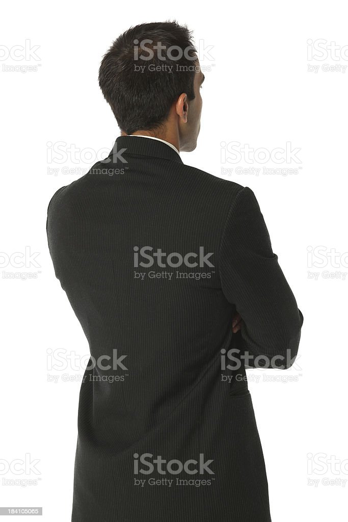 Rear view of businessman royalty-free stock photo