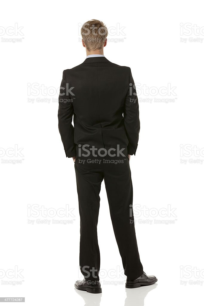 Rear view of businessman standing royalty-free stock photo