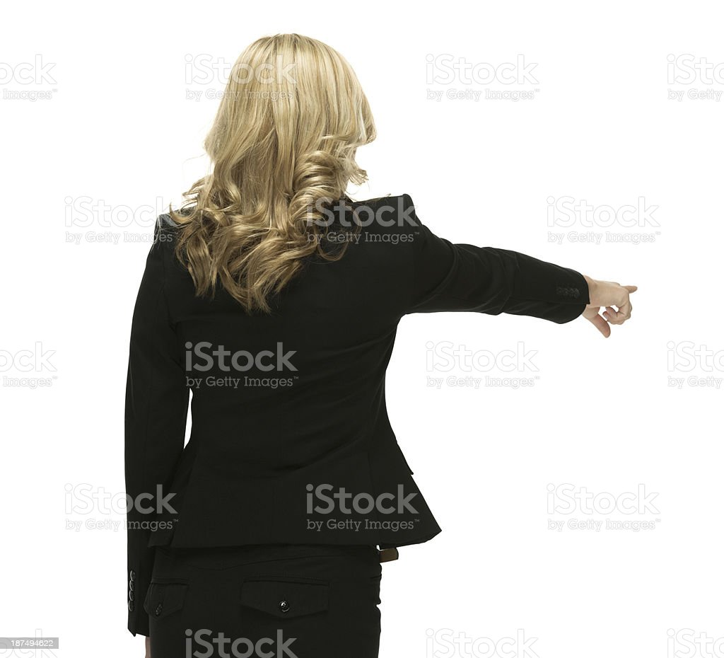 Rear view of businesswoman royalty-free stock photo