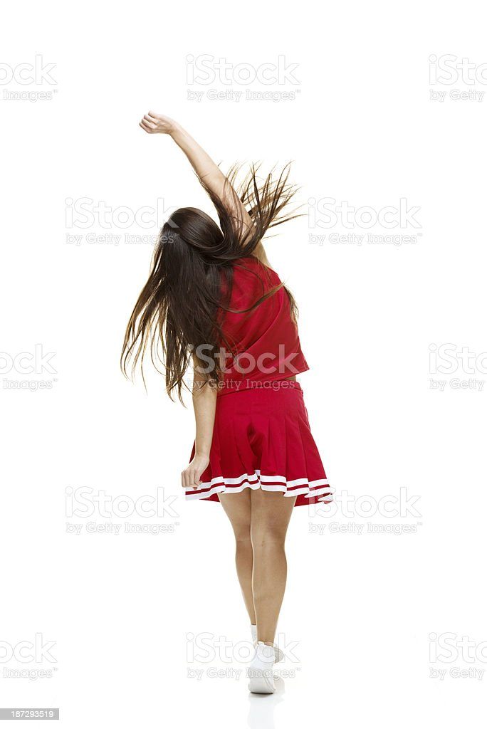 Rear view of cheerleader royalty-free stock photo