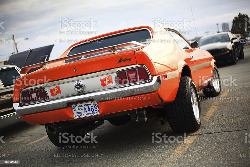 Rear view of classic Ford Mustang royalty-free stock photo