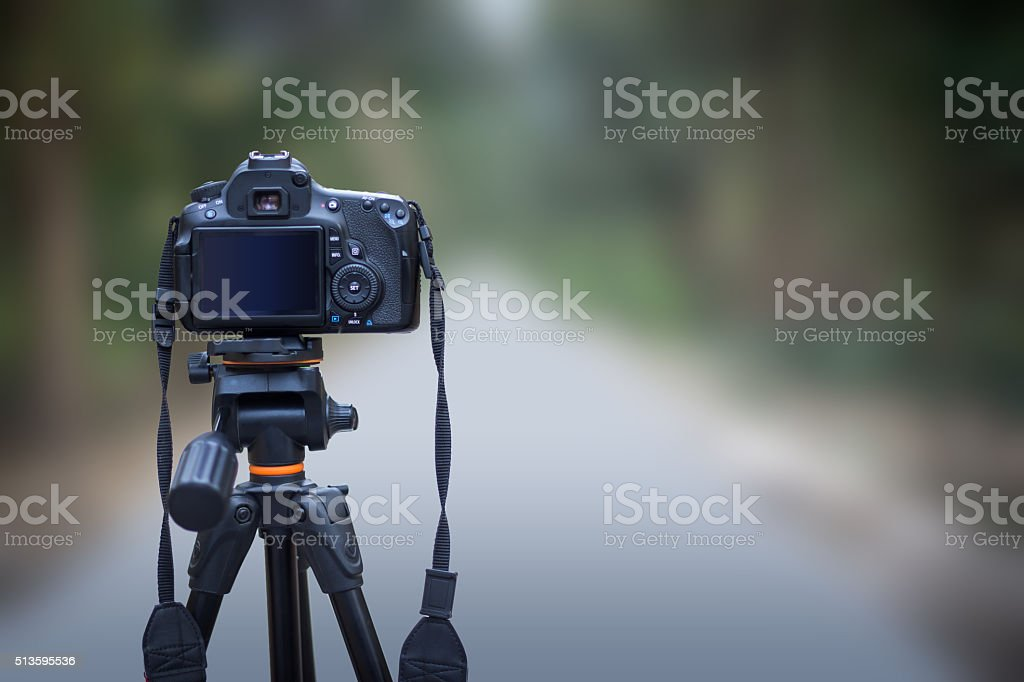 Rear View of Digital Camera, Blank, Copy Space stock photo