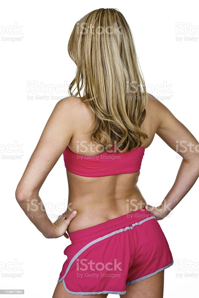 Rear view of fitness woman royalty-free stock photo