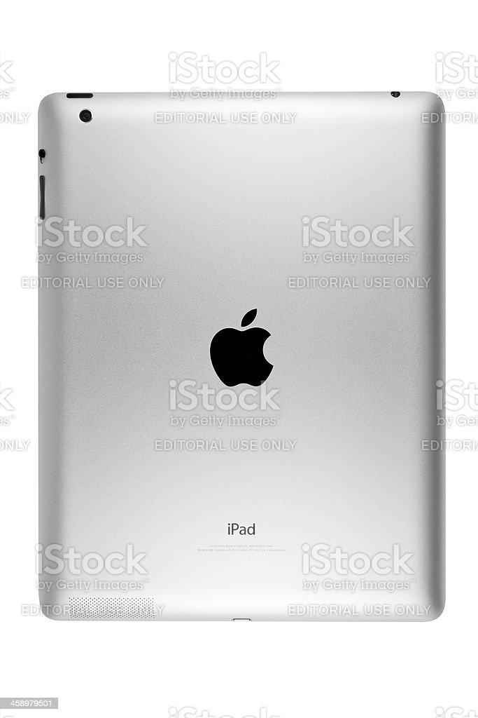 Rear View of iPad stock photo