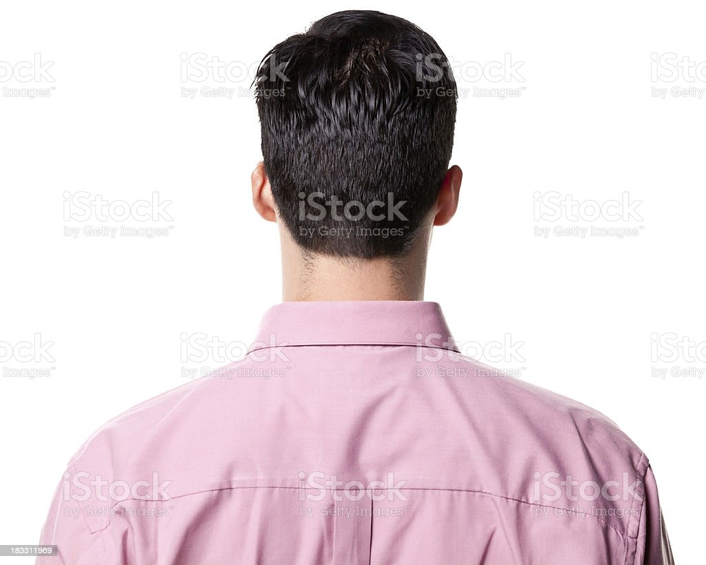 Rear View of Man stock photo
