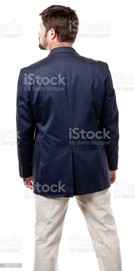 Rear View Of Mid Adult Male stock photo