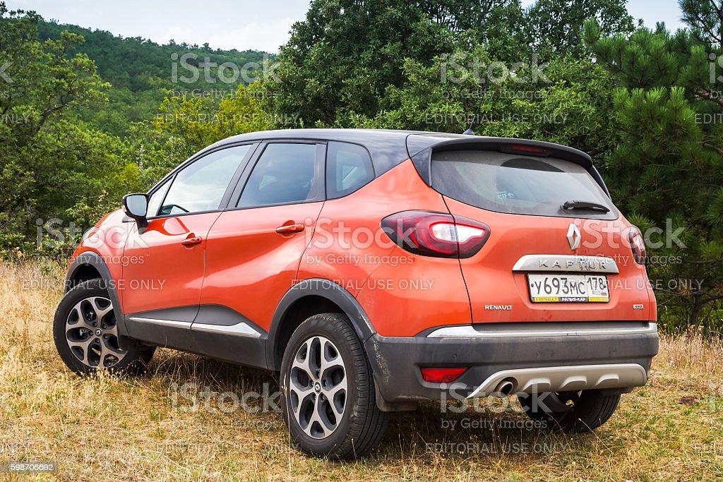 Rear view of Renault Kaptur stock photo