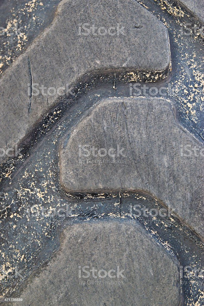 rear view of  row  tractors with mud. royalty-free stock photo